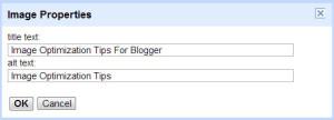 image optimzation blogger