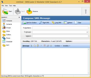 SMSCaster E-Marketer GSM Standard